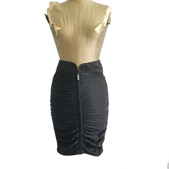 340065240 Zac Posen for Target Skirts | Zac Posen Black Ruched Stretchy ...